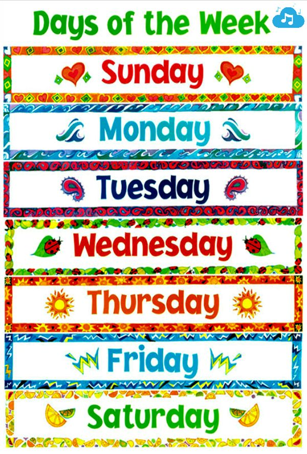 Divine image with free printable days of the week