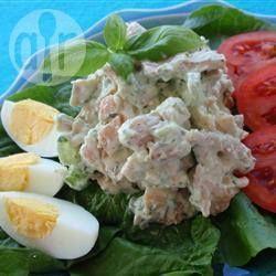 Salpicón de ave, albahaca y queso parmesano @ allrecipes.com.ar