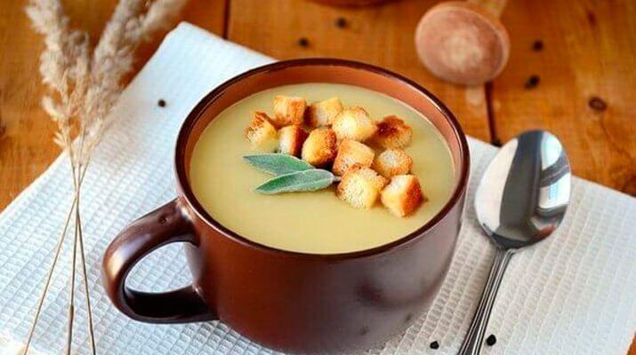 Картофельный крем суп с сыром