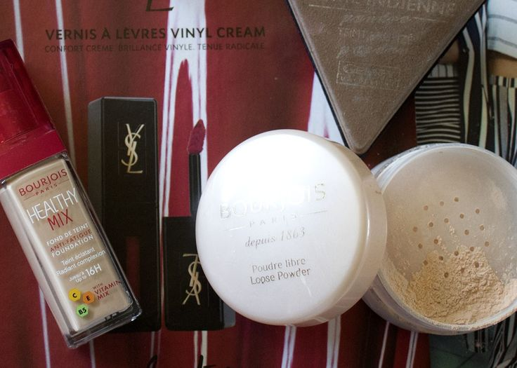 Face Routine & makeup léger – Loose Powder (Bourjois) | Healthy Mix foundation (Bourjois) | Terre Indienne compact powder (Maybelline)