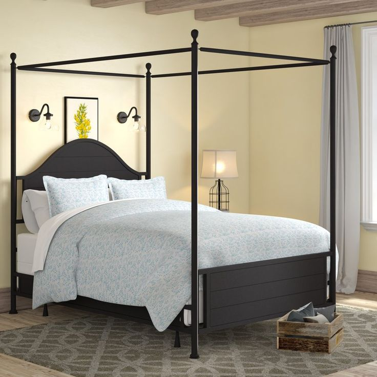 Best Laurel Foundry Modern Farmhouse Jerri Canopy Bed Reviews 400 x 300