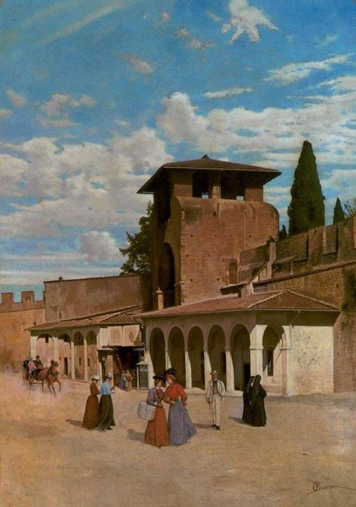 Odoardo Borrani Porta a San Gallo a Firenze, 1880