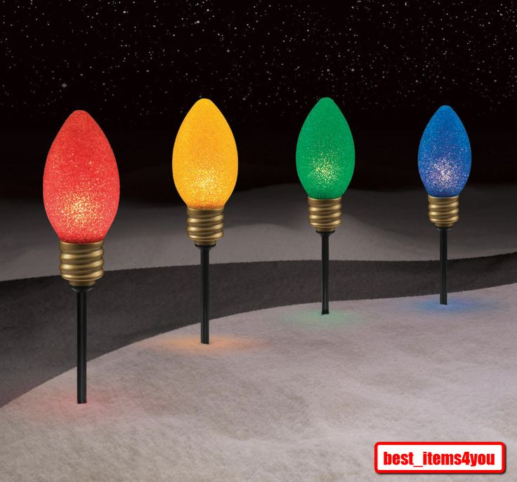 Large Bulb Lighted Christmas Outdoor Lawn Yard