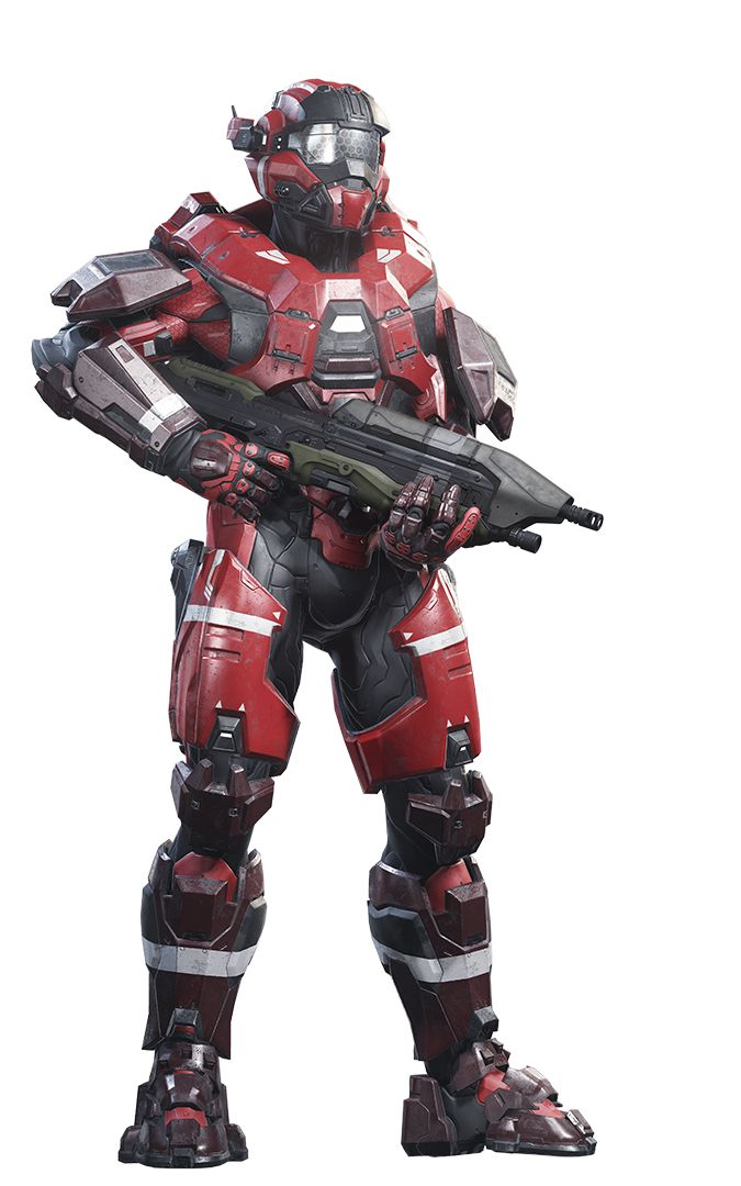 Halo 5 Guardians Render - Noble Red