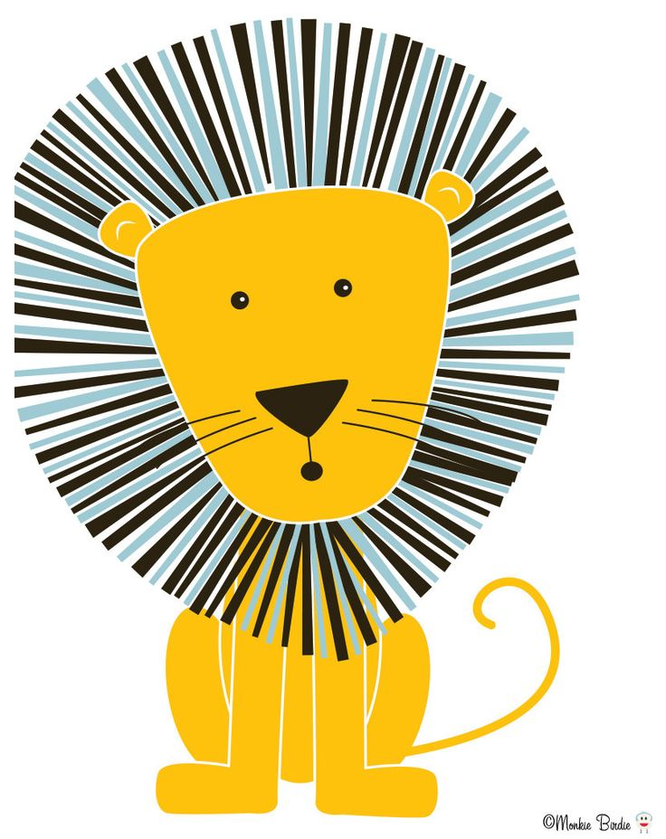 Lion Nursery Art Print por MonkieBirdie en Etsy