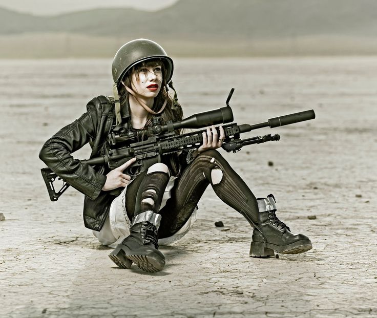 HDR Photo of Army Woman.