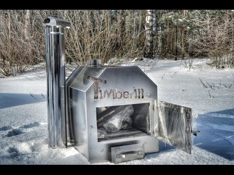 8 corners outdoor stove, two times more effective - TimberIN