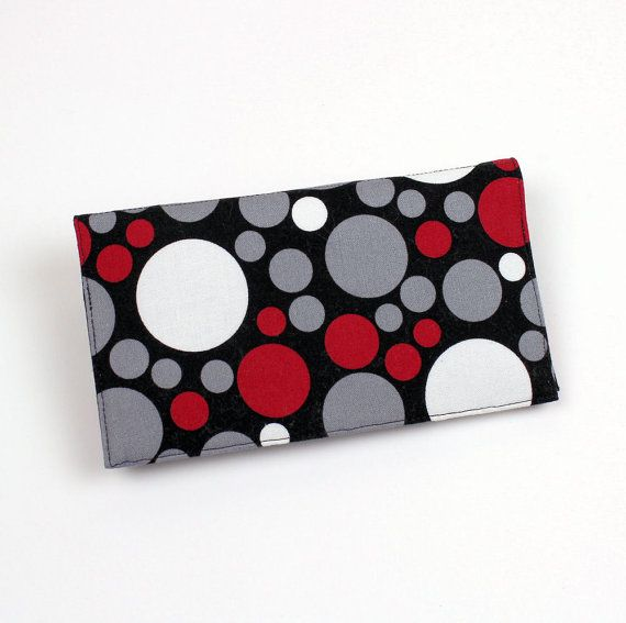 Checkbook Cover for Duplicate Checks with Pen by QuiltSewCover, $13.00