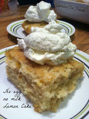 Non-Dairy Egg Free Lemon Cake by Spatulas on Parade