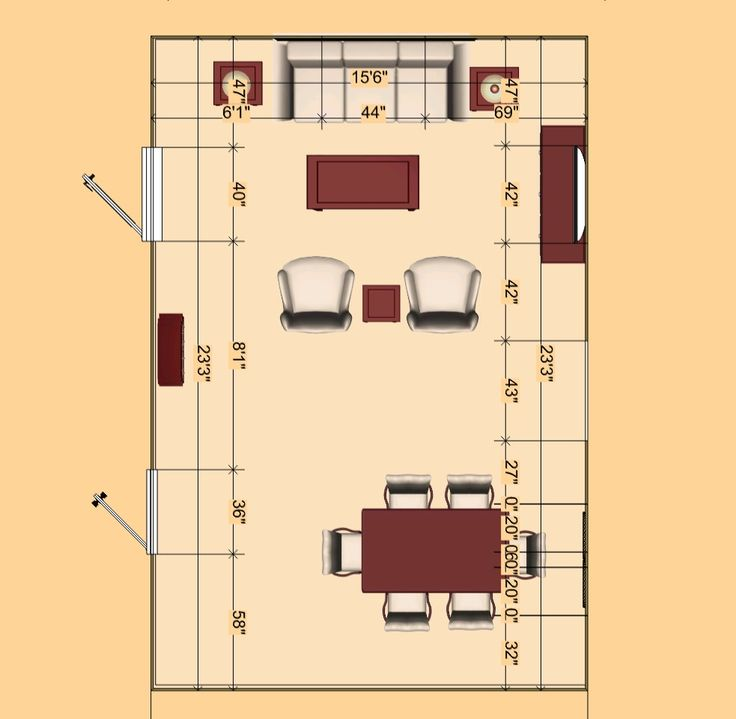 X Living Room Layout