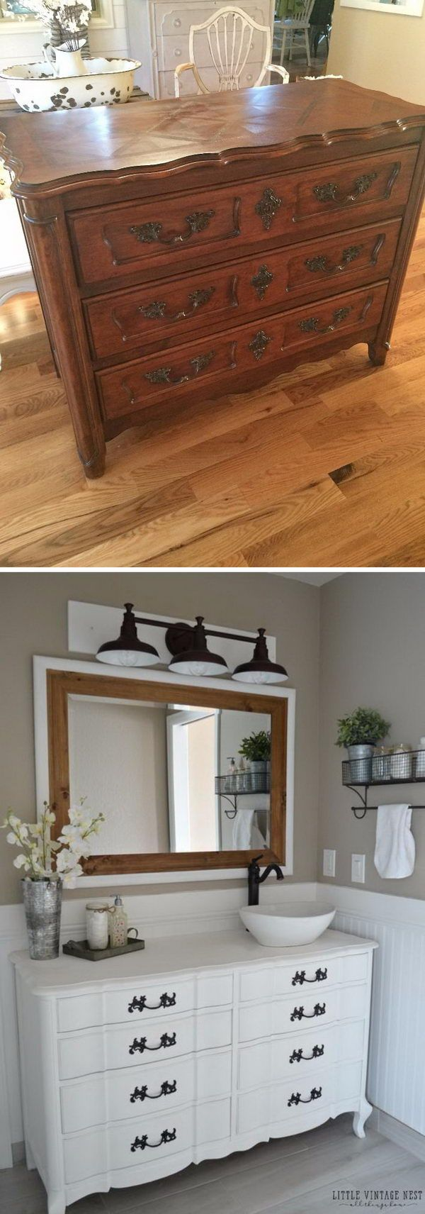 Antique dresser bathroom vanity - Amazing Diy Ideas To Transform Your Old Furniture