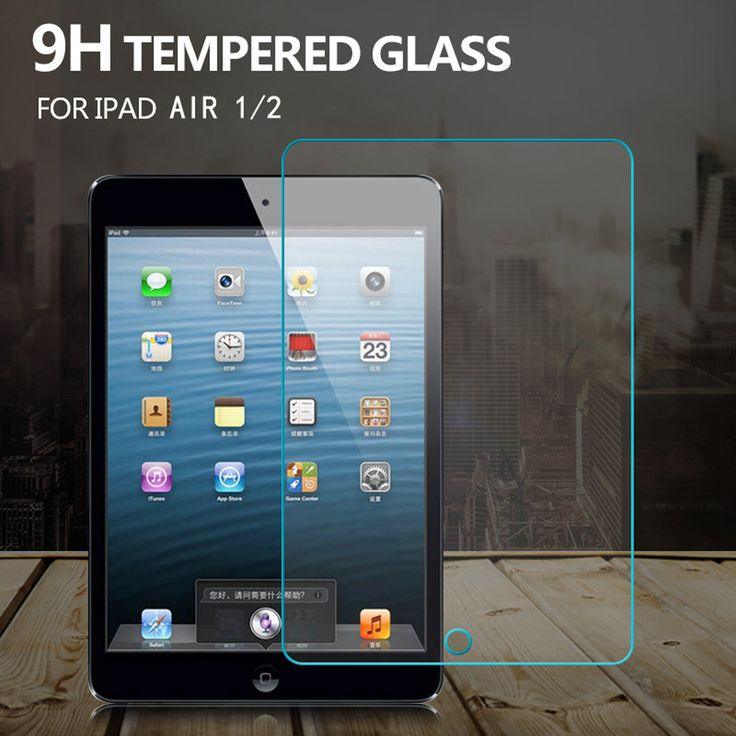 Nuevo protector de pantalla para ipad air 1 2 ipad 5 6 Vidrio templado 9 H 2.5D 0.3mm Ultra Thin Clear Película Protectora P15