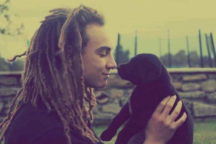 sweet#man#dog#dread