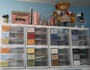 How organized!  Major scrapbooking here.Organizing Papers, Sterlite Drawers, Organic Paper, Crafts Room, Scrapbook Rooms, Craftroom Design, Organic Scrap Paper, Paper Storage, Paper Scraps
