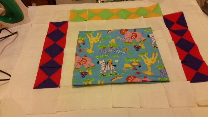 Harlequin quilt border layout