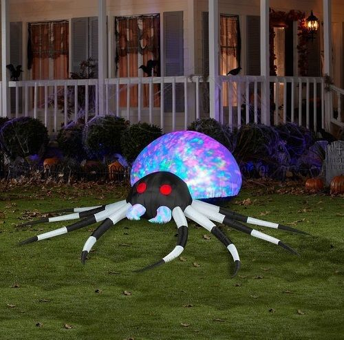 Air Blown Spider Gothic Halloween Lawn Decoration Light Up Party Prop Scary Yard