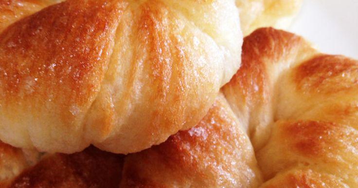 バターを大量に練りこまなくても、じゅわっとさっくさくのデニッシュパンができました!マーガリンを2次発酵の時にのせるだけ!