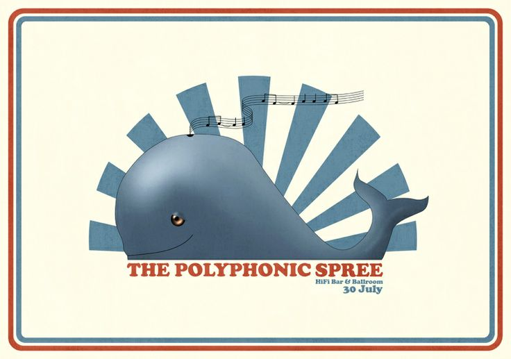 The Polyphonic Spree Gig Poster - Dagron / Graphic Design and Illustration by Bjørn Andreas Maurseth