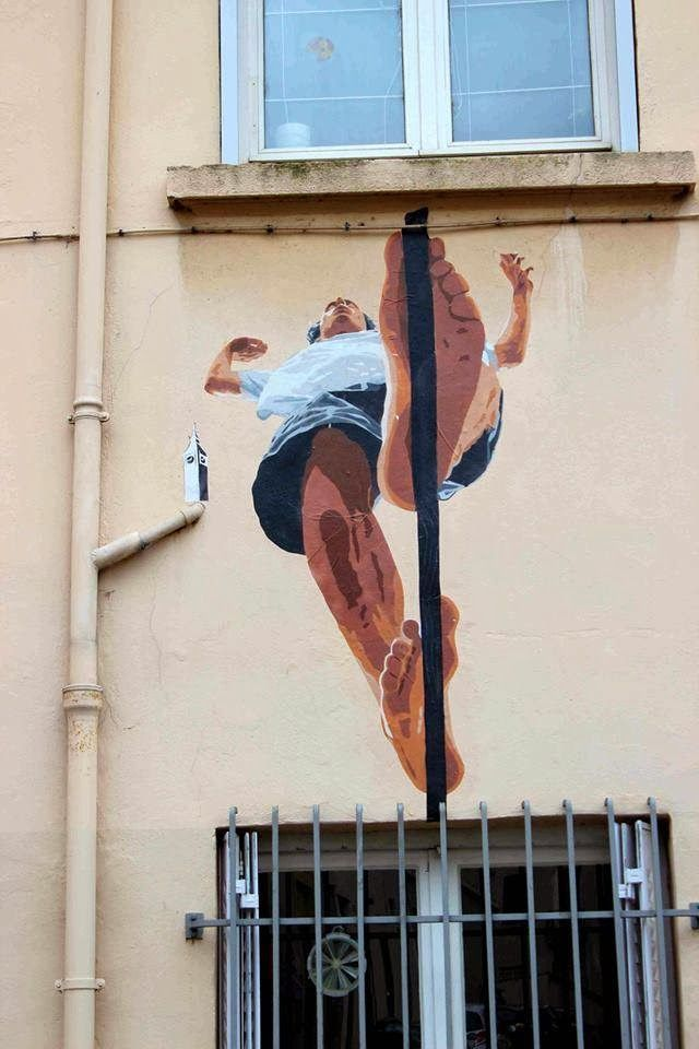 #street #art - The Tightrope Walker by Big Ben