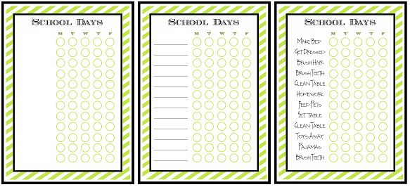 Back to School Chore List - Free Printable - A Helicopter Mom
