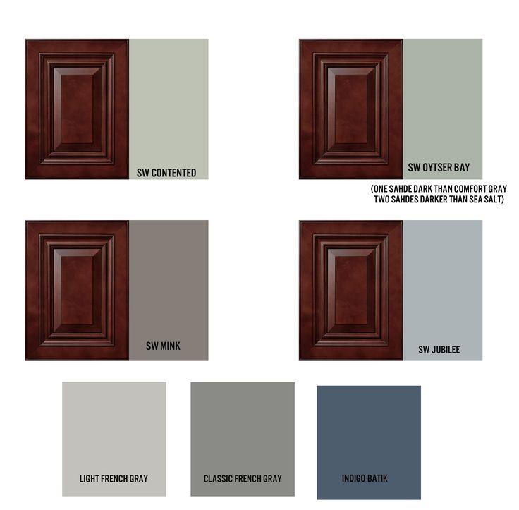 Paint Colors for Cherry Cabinet Kitchen and Combined Living Room | www.emilywignalldesign.com