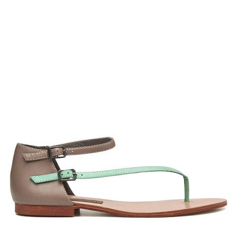 Daydreamer Sandal - Mint and Taupe – Harlequin Belle