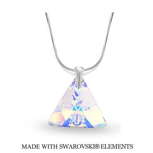 Náhrdelník Swarovski Elements Triangle Xilion AB 16 mm Divine Jewellery eshop