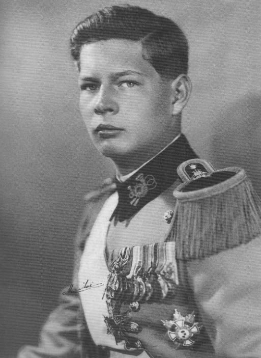 Michael of Romania.  Son of Princess Helen of Greece and Crown Prince Carol of Romania.  Although he was of the House of Romania, he was the son of a Princess of Greece.
