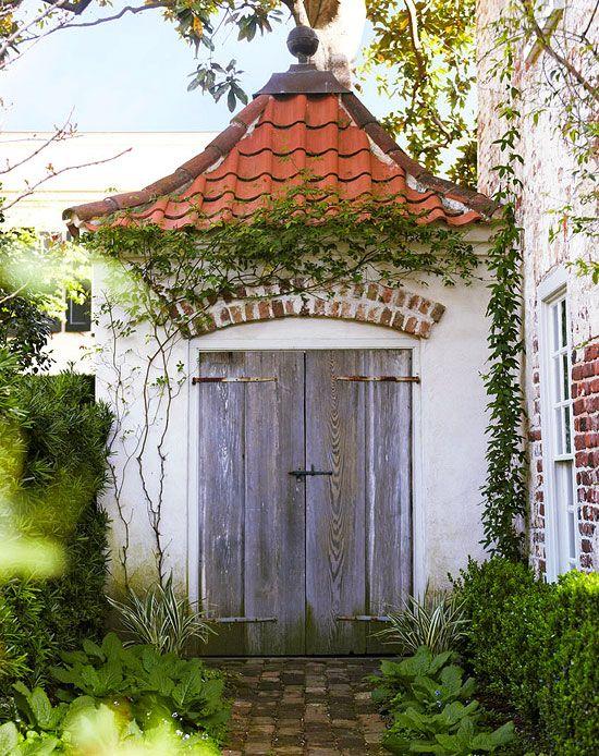 Charming garden folly garden sheds potting benches for Traditional garden buildings