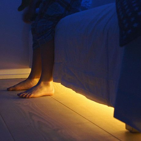 Motion sensor LED light with auto shut-off for under the bed!! No more stubbed toes!! #GeniusIdea