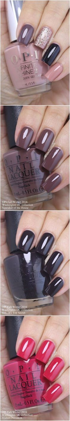OPI nail swatches fall! Ooh I really love the nails in first pic!