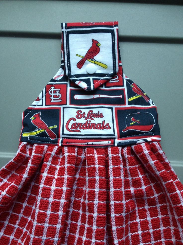 St louis cardinal Hanging kitchen towels - pinned by pin4etsy.com