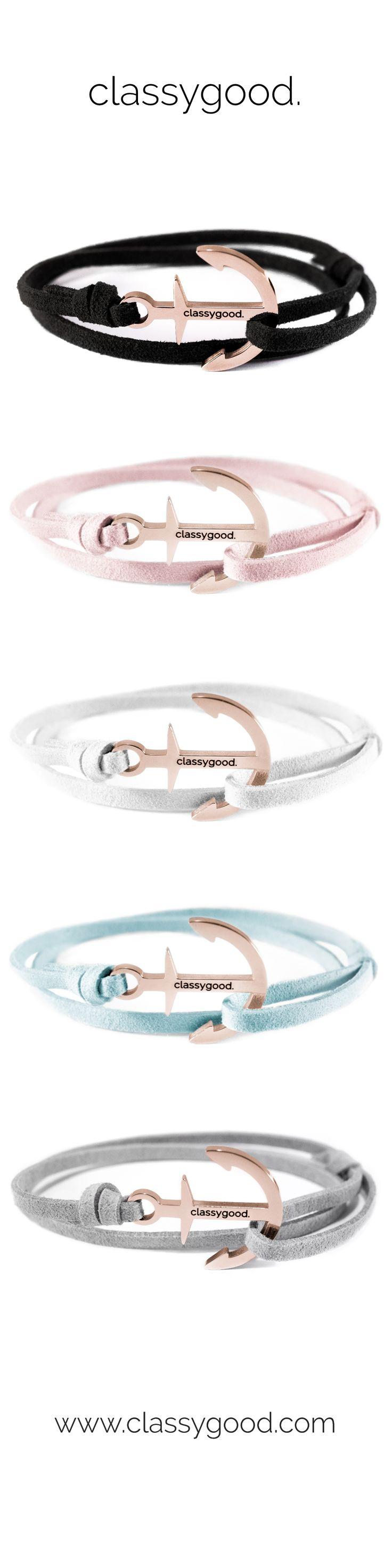 Anker Armbänder in roségold von classygood. Jetzt Entdecken! www.classygood.com