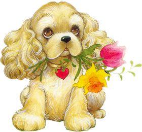 Lindas Gifs e Imagens: Desenhos de Cachorrinhos em Png e Gifs
