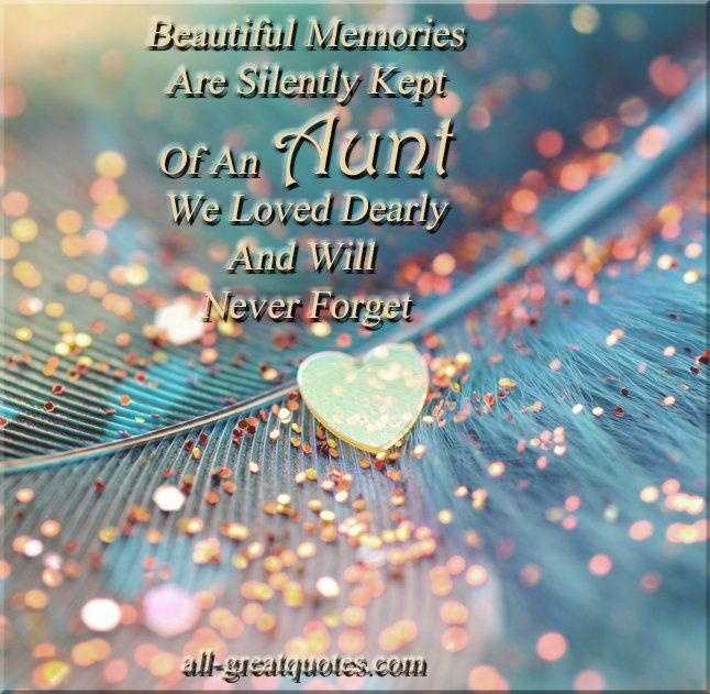 loss of aunt poem photo | Aunt Sayings And Quotes