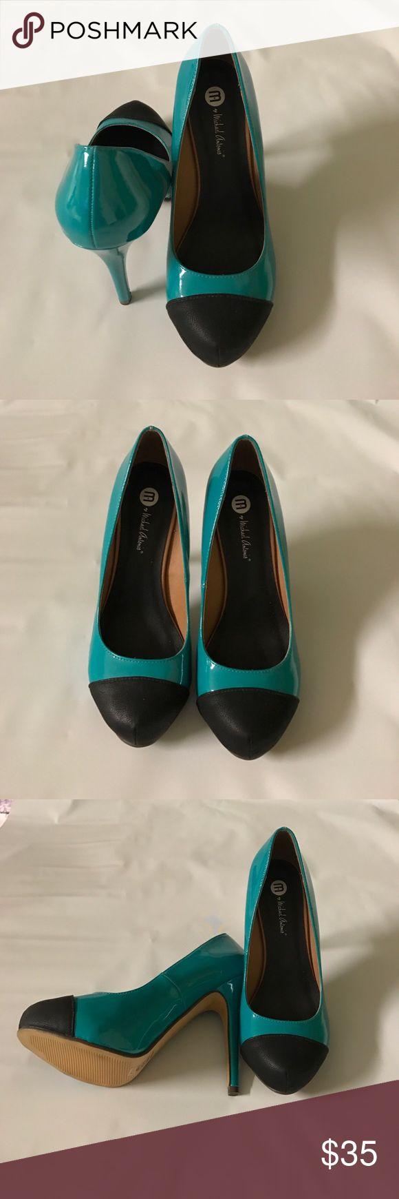 Teal High Heels 4-inch high heels, teal in color, gently used Michael Antonio Shoes Heels