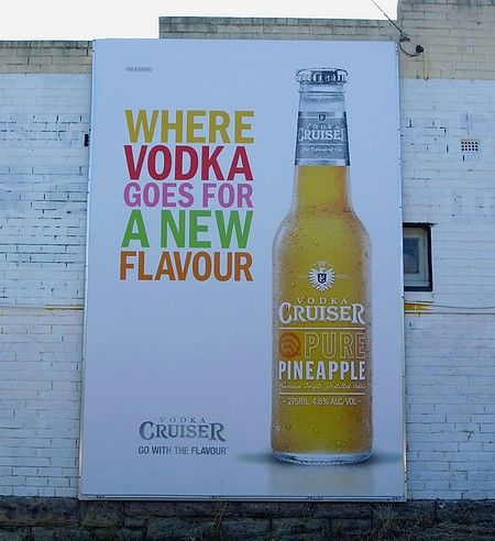 Vodka Cruiser Pure Pineapple billboard