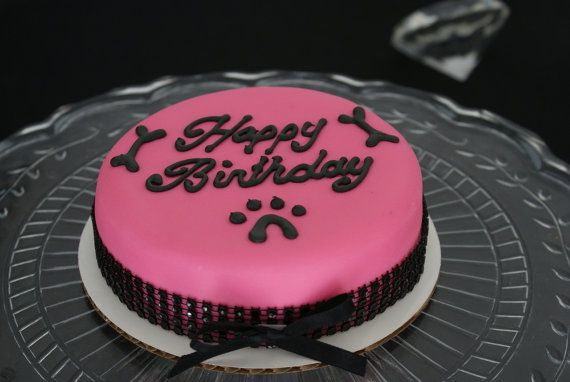 Princess girl dog birthday cake in pink dog. #puppycakes, #dogdesserts, Celebrate your puppy dog on their birthday.  I love this idea! #birthdaydog:)