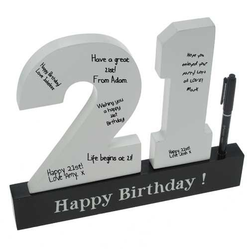 Personalised 21st Birthday Sign | WefollowPics