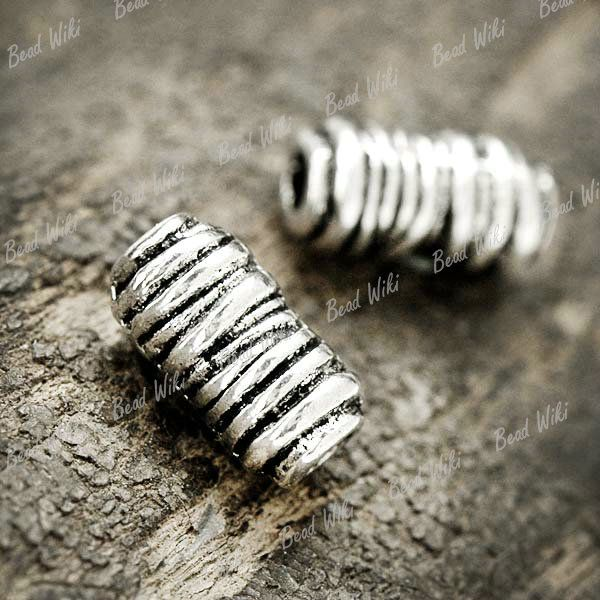 50-Tibet-Tibetan-Silver-Vintage-Antique-Tube-Spacer-Bead-Findings-11x6x6-TS0068