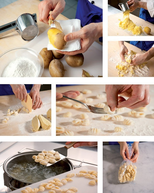 Gnocchi di patata.  Cucina italiana.