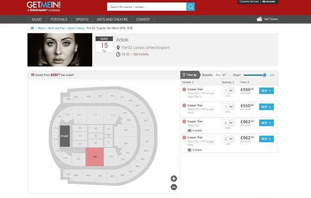 Adele tickets being resold for up to TEN times the face value just hours after going on sale