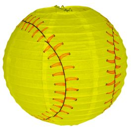 These softball lanterns would make great party decor                                                                                                                                                      More