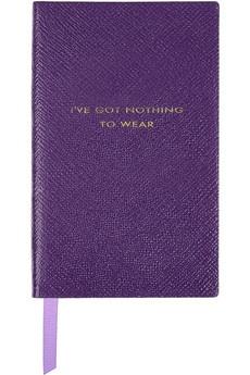 Smythson I've Got Nothing To Wear textured-leather notebook NET-A-PORTER.COM