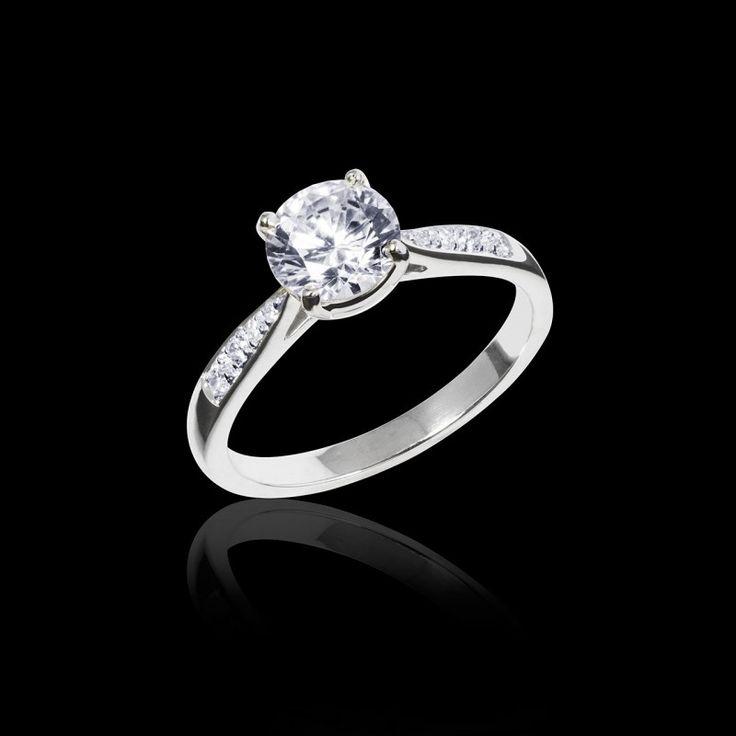 Bague de fiançailles diamant Angela - Maison Jaubalet