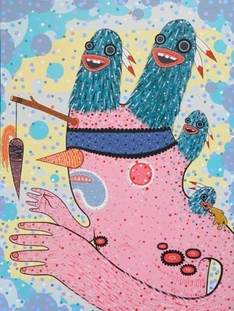 Dan Withey   Capital Fun Ride- 2013   Acrylic on canvas   75 x 100cm