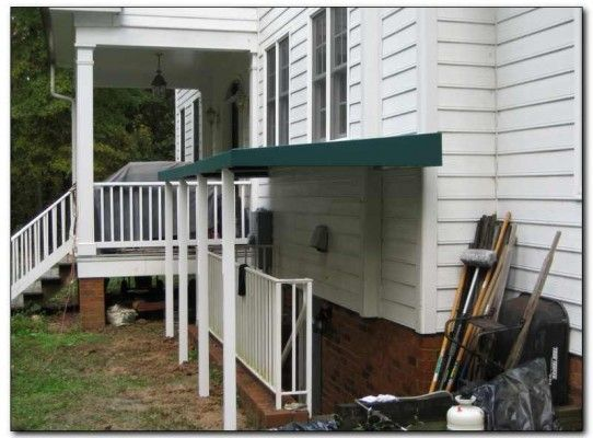 covering the steps to walk down basement solves many wet basement problems an awning over