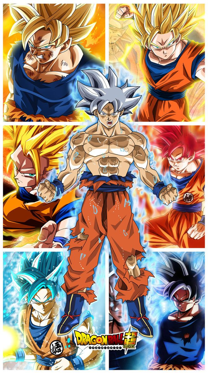 All Goku Form By Jemmypranata Anime Dragon Ball Super Dragon