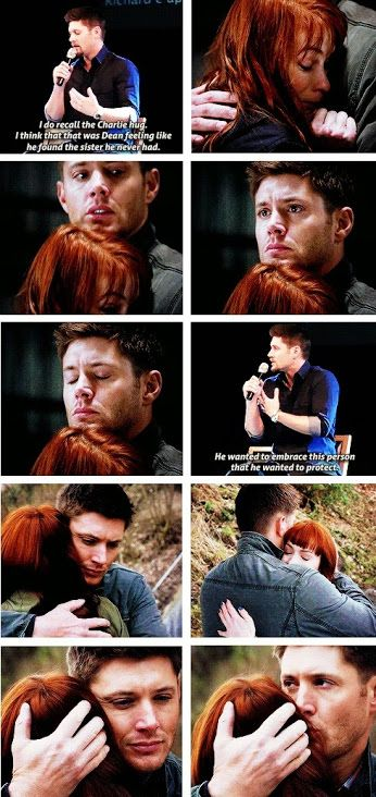 The Charlie Hug - Dean and Charlie's relationship is one of my favorites :)