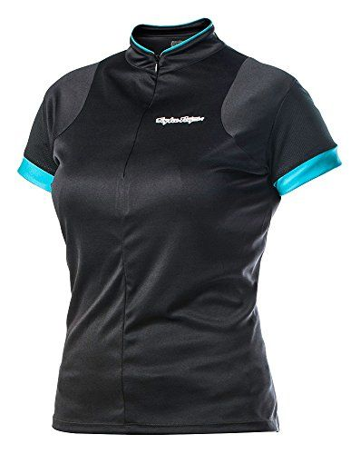 Troy Lee Designs Ace Womens BMX Bike Jersey  Black  Small *** See this great product.Note:It is affiliate link to Amazon.